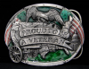 HH01116 VINTAGE 1983 ***PROUD TO BE A VETERAN*** PEWTER BUCKLE
