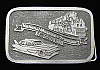 HJ01104 VINTAGE 1980s ***NATIONAL MUSEUM OF TRANSPORTATION*** ST. LOUIS BUCKLE