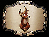 VINTAGE 1977 ****DEER HEAD MOUNTED ON**** BRASS BUCKLE