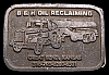HL24126 VINTAGE 1970s  ***B&H OIL RECLAIMING*** KANSAS TRUCK OILFIELD BUCKLE