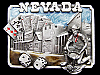 AWESOME VINTAGE 1982 NEVADA SOUVENIR PEWTER BELT BUCKLE