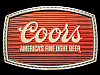 JI29154 VINTAGE 1970s ***COORS*** AMERICAS FINE LIGHT BEER BUCKLE
