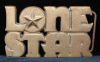 HF13116 INCREDIBLE VINTAGE 1976 ***LONESTAR*** SOLID BRASS BEER BUCKLE