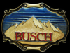 REALLY NICE VINTAGE 1980 BUSCH (MOUNTAINS) BEER BUCKLE