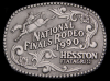 ID10155 VINTAGE 1990 NATIONAL FINALS RODEO HESSTON ***NFR*** BUCKLE