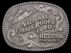 ID10154 VINTAGE 1990 NATIONAL FINALS RODEO HESSTON ***NFR*** BUCKLE