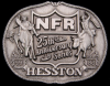 ID10143 VINTAGE 1983 NATIONAL FINALS RODEO HESSTON ***NFR*** BUCKLE
