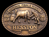 ID10133 VINTAGE 1981 *NFR* NATIONAL FINALS RODEO HESSTON BUCKLE