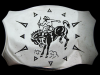 KF11112 VINTAGE 1970s CHAMBERS **RODEO COWBOY** WESTERN STYLE BELT BUCKLE