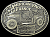 JJ04142 *NOS* GREAT 1982 **1910 AMERICAN LAFRANCE FIRETRUCK** SOLID BRASS BUCKLE