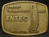 HC01131 VINTAGE 1980s **ENTEC** ENERGY TECHNOLOGY HOUSTON TEXAS OILFIELD BUCKLE