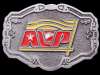 IB01168 VINTAGE 1970s DECORATED ***AVP COMPANY*** PEWTER BUCKLE