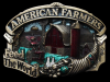 KF15139 VINTAGE 1984 **AMERICAN FARMERS FEED THE WORLD** BARNYARD SCENE BUCKLE