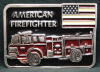 HD24125 1970s ***AMERICAN FIREFIGHTER*** INLAID PEWTER BUCKLE