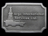 KE19154 VINTAGE 1970s ***ARGO INT'L SERVICES LTD.*** BELT BUCKLE
