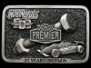 JL21116 VINTAGE 1985 ***PREMIER 25 YEARS AT INDY*** INDY 500 PEWTER BELT BUCKLE