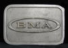 HH06107 GREAT VINTAGE 1970s **BMA** COMPANY LOGO PEWTER BUCKLE