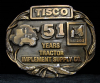 HG14131 VINTAGE 1988 ***TRACTOR IMPLEMENT SUPPLY*** BRASSTONE BUCKLE