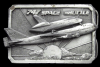 JJ04133 GREAT 1983 ***BOEING 747 AIRPLANE / SPACE SHUTTLE*** PEWTER BUCKLE