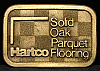 HG07119 VINTAGE 1970s ***HARTCO FLOORING*** SOLID OAK BELT BUCKLE
