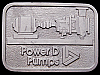 II01142 VINTAGE 1970s **POWER D PUMPS COMPANY** PEWTER BELT BUCKLE