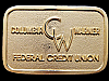 1970s COLUMBIA WARNER FEDERAL CREDIT UNION BRASS BUCKLE
