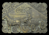JJ04182 GREAT VINTAGE 1976 BUCKLE ***COCA COLA*** w/ COKE BOTTLE OPENER BACK