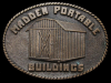 IF21170 VINTAGE 1970s **MADDEN PORTABLE BUILDINGS** SOLID BRASS BUCKLE