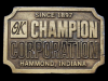 IC19146 NICE VINTAGE 1970s ***OK CHAMPION CORPORATION*** BELT BUCKLE