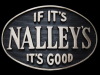 KC29145 VINTAGE 1970s ***IF IT'S NALLEY'S IT'S GOOD*** SOLID BRASS BELT BUCKLE