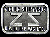 KA01147 GREAT VINTAGE 1970s ***ZIGLER SHIPYARDS COMPANY*** BELT BUCKLE