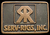 JJ06169 VINTAGE 1980 **SERV-RIGS, INC.** SOLID BRASS OILFIELD BUCKLE