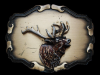 REALLY NICE VINTAGE 1978 ***BUGLING ELK*** BELT BUCKLE