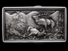 KD27105 AWESOME VINTAGE 1977 ***FIGHTING BULL ELK*** BELT BUCKLE