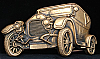 HG20132 VINTAGE 1978 BARON ***1920s CAR*** DIECUT SOLID BRASS BUCKLE
