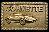 KD20170 VINTAGE 1970s CHEVROLET **CORVETTE** SOLID BRASS BELT BUCKLE