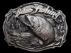 KE23131 VINTAGE 1987 **BASS FISHING** COMMEMORATIVE BRASSTONE BELT BUCKLE