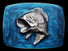 KD17129 REALLY NICE VINTAGE 1979 GREAT AMERICAN **LARGE MOUTH BASS** BELT BUCKLE