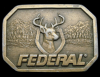 COOL VINTAGE 1970s **FEDERAL FIREARMS** DEER GUN BUCKLE