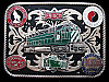 KE31143 VINTAGE 1970s ***VARIOUS RAILWAYS*** (FRISCO/NP/B&Q) TRAIN BUCKLE