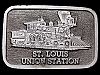 IG31128 VINTAGE 1970s ***ST. LOUIS UNION STATION*** PEWTER BUCKLE
