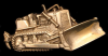 JH20182 COOL VINTAGE 1978 ***BULLDOZER*** CUTOUT SOLID BRASS BUCKLE