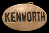 GREAT 1980 BUCKLE **KENWORTH** TRUCKS SOLID BRASS OVAL