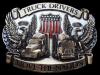 KC31153 VINTAGE 1987 **TRUCK DRIVERS MOVE THE NATION** BRASSTONE BELT BUCKLE