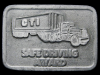 IC27151 VINTAGE 1980s **CTI SAFE DRIVING AWARD** PEWTER BUCKLE