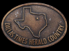 IC09126 VINTAGE 1978 ***DALLAS TIMES HEARLD*** COUNTRY BELT BUCKLE