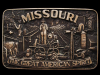 JH29149 GREAT 1970s **MISSOURI - THE GREAT AMERICAN SPIRIT** SOLID BRASS BUCKLE