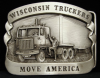 HH05117 VINTAGE 1984 ***WISCONSIN*** TRUCKERS MOVE AMERICA BUCKLE