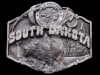GREAT VINTAGE 1987 SOUTH DAKOTA SOUVENIR PEWTER BUCKLE