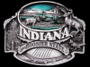 IG13135 *NOS* NICE VINTAGE 1993 ***INDIANA*** THE HOOSIER STATE PEWTER BUCKLE